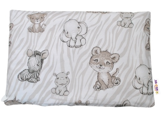 Baby Nellys Povlak na polštářek ZOO, 40x60 cm - béžová