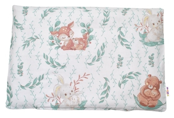 Baby Nellys Povlak na polštářek Lulu Natural, 40x60 cm - mátová