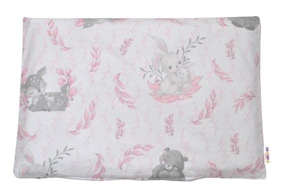 Baby Nellys Povlak na polštářek Lulu Natural, 40x60 cm - růžový