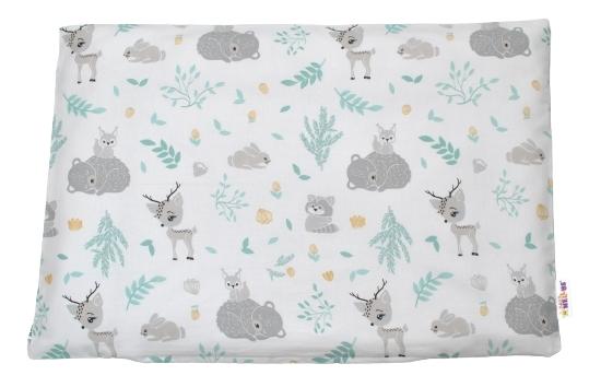 Baby Nellys Povlak na polštářek New Forest Friends, 40x60 cm - šedý
