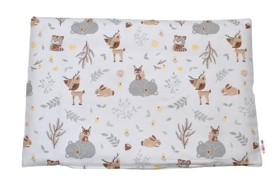 Baby Nellys Povlak na polštářek New Forest Friends, 40x60 cm - hnědý