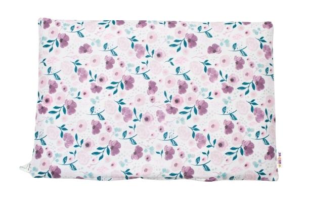 Baby Nellys Povlak na polštářek Begónie, 40x60 cm - fialová/růžová