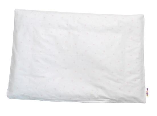 Baby Nellys Povlak na polštářek Mini hvězdičky, 40x60 cm - růžový