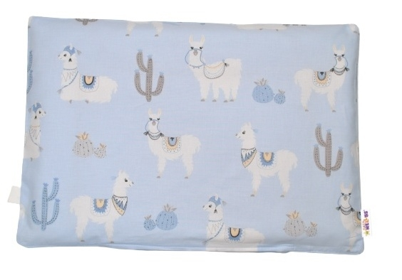Baby Nellys Povlak na polštářek Lama, 40x60 cm - modrá