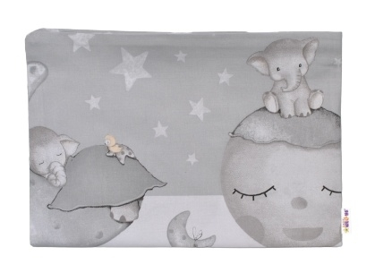 Baby Nellys Povlak na polštářek Baby Elephant, 40x60 cm - šedá