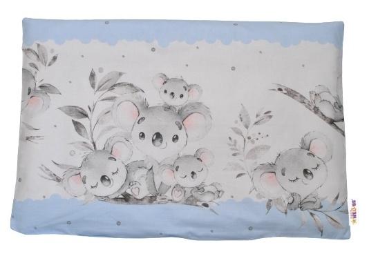 Baby Nellys Povlak na polštářek Medvídek Koala, 40x60 cm - modrý