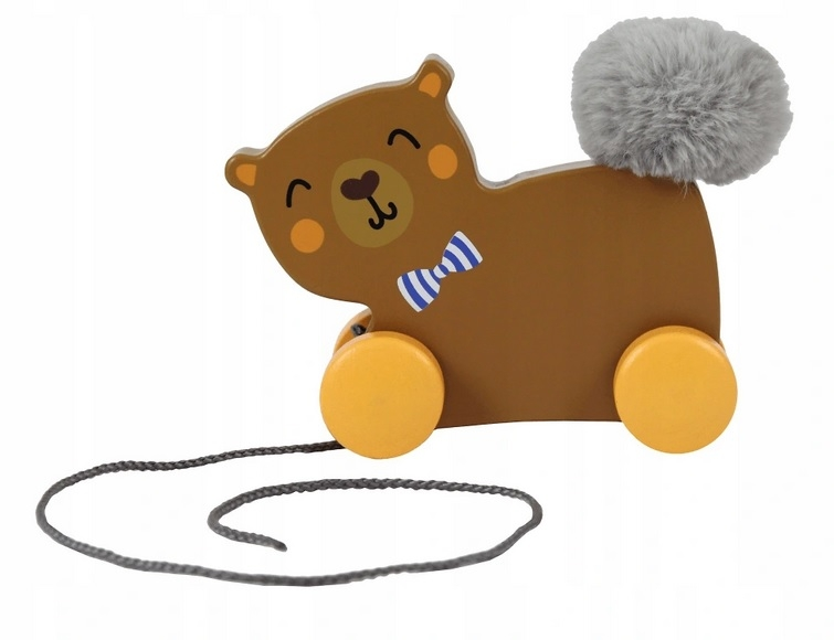 Trefl Edukační dřevěná hračka Medvídek, hnědý