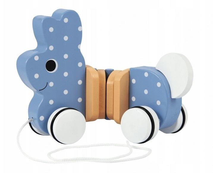 Trefl Edukační dřevěná hračka Zajíček, modrá