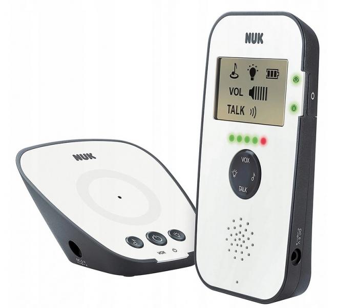 NUK Dětská digitální chůvička ECO CONTROL 530D - bílá/šedá