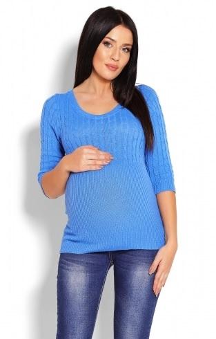 Be MaaMaa Těhotenský svetr 3/4 rukáv - jeans