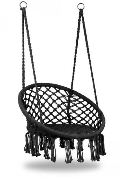 Eco toys Závěsné houpací křeslo Hamak - černé