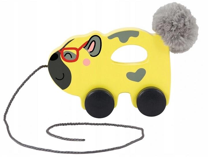 Trefl Edukační dřevěná hračka Pejsek, žlutý