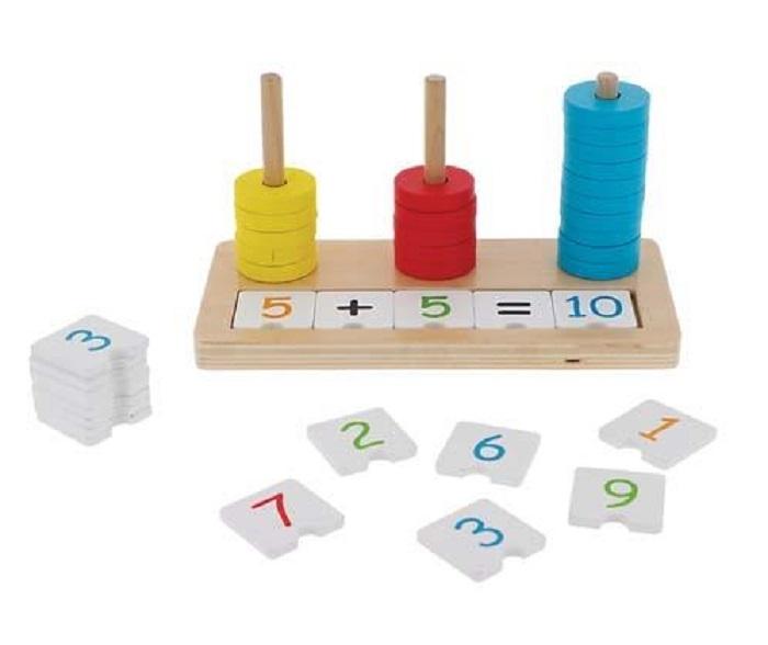Trefl Edukační dřevěné počítadlo Matematika