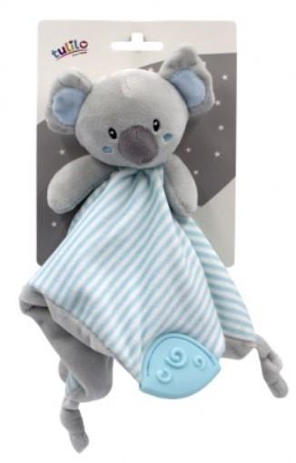Tulilo Přítulníček, mazlík s kousátkem Koala - mátový, 25 x 25 cm