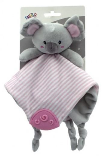 Tulilo Přítulníček, mazlík s kousátkem Koala - růžový, 25 x 25 cm