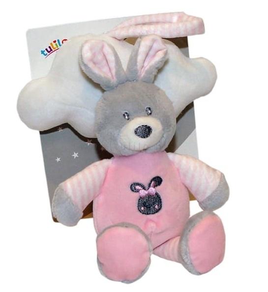 Tulilo Závěsná plyšová hračka s melodií Mráček - růžový, 35 cm