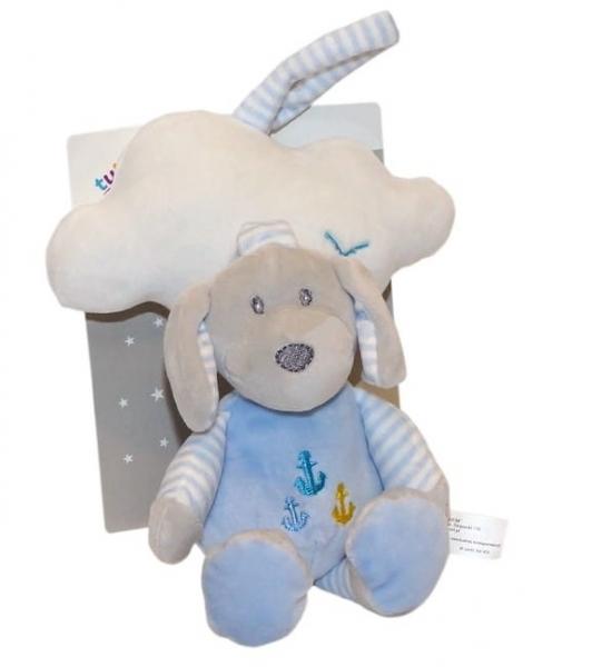 Tulilo Závěsná plyšová hračka s melodií Mráček - modrý, 35 cm