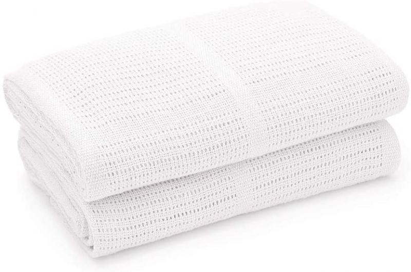 Dětská háčkovaná bavlněná deka Lorelli 75x100 CM WHITE