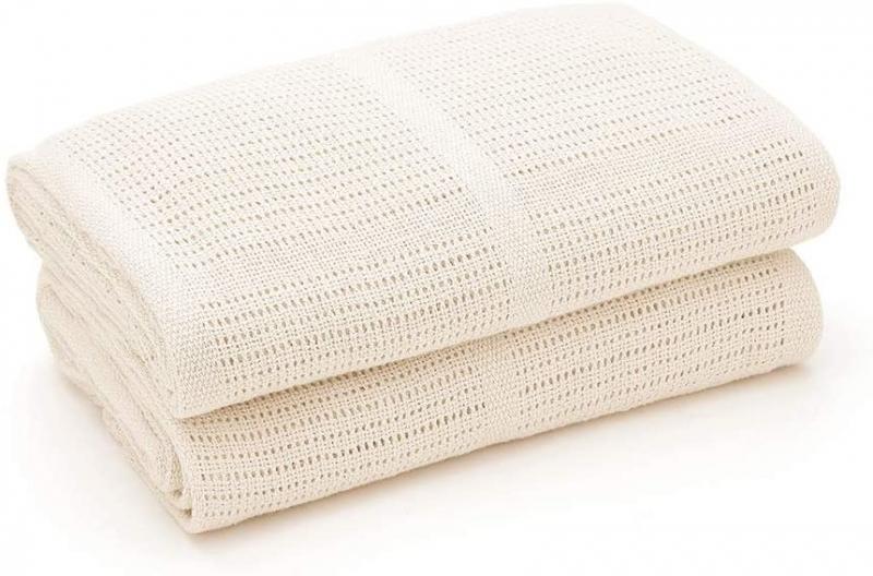 Dětská háčkovaná bavlněná deka Lorelli 75x100 CM CREME