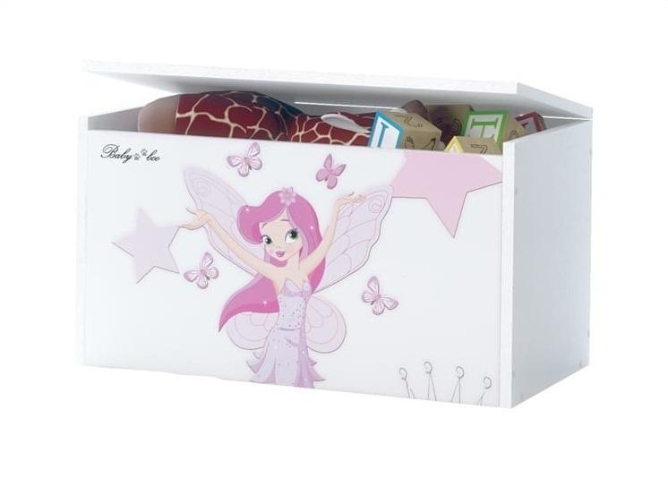 BabyBoo Box na hračky s motivem Little Princess