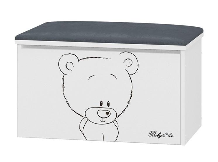 BabyBoo Box na hračky s motivem Medvídek  + čalouněné sedalo