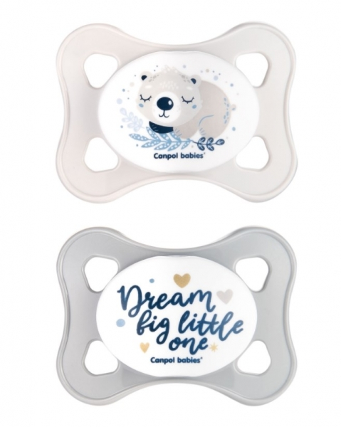 Canpol Babies Dudlíky 0-2m, Mini soother Koala - šedé