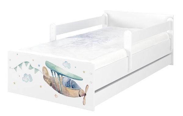BabyBoo Dětská postel 200 x 90cm - Letadlo MAX XXL + ŠUPLÍK