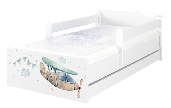 BabyBoo Dětská postel 180 x 90cm - Letadlo MAX XL + ŠUPLÍK