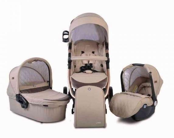Cangaroo Dětský kočárek 3v1, Noble 2021 - béžový