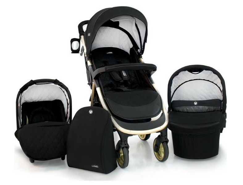 Cangaroo Dětský kočárek 3v1, Noble 2021 - černý