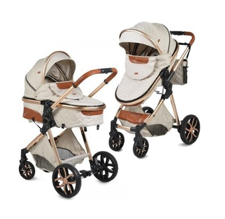 Moni Dětský kočárek 2v1, Alma 2021 - béžový