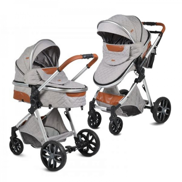 Moni Dětský kočárek 2v1, Alma 2021 - šedý