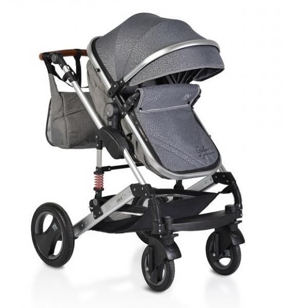 Moni Dětský sportovní kočárek 2v1, Gala premium 2021 - panther, šedý