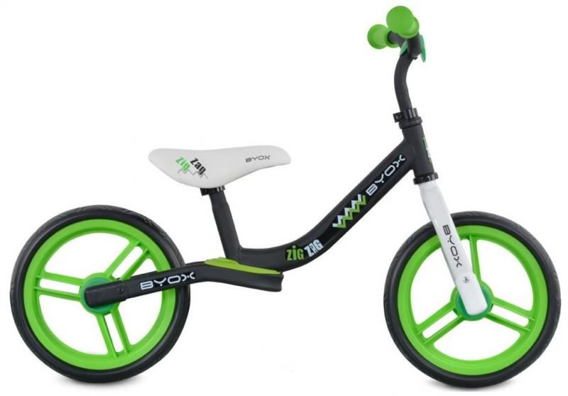Moni Dětské balanční kolo Zig-Zag, zelené