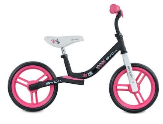 Moni Dětské balanční kolo Zig-Zag, růžové