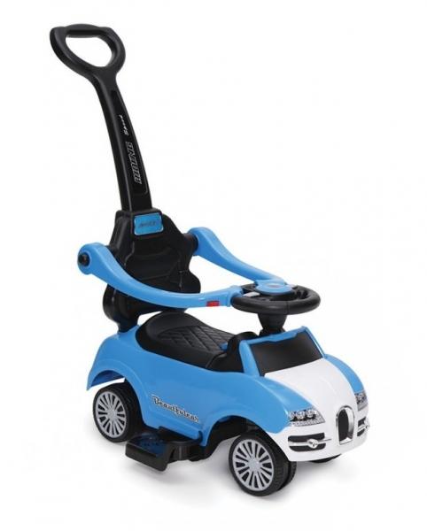 Moni Dětské odrážedlo, odstrkovadlo s vodící tyčí Rider 2 v 1 - modré