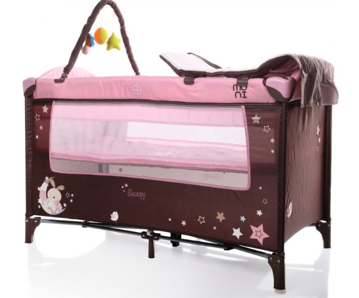 Moni Dětská cestovní ohrádka Sleepy s kolečky - růžová