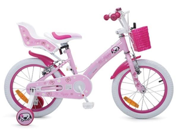 Byox Dětské kolo Puppy 16, růžové