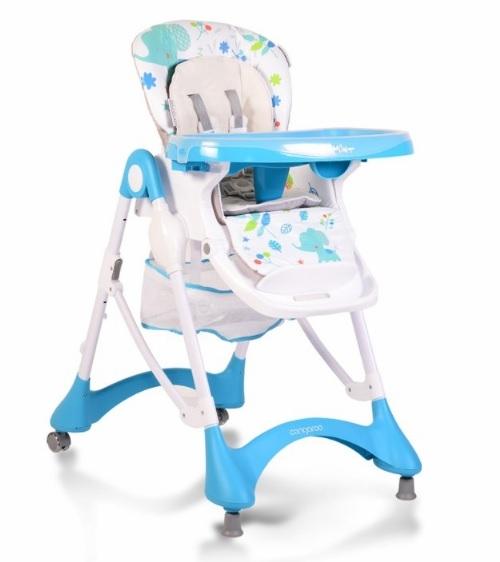 Cangaroo Jídelní židlička Mint - modrá