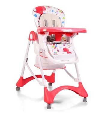 Cangaroo Jídelní židlička Mint - červená