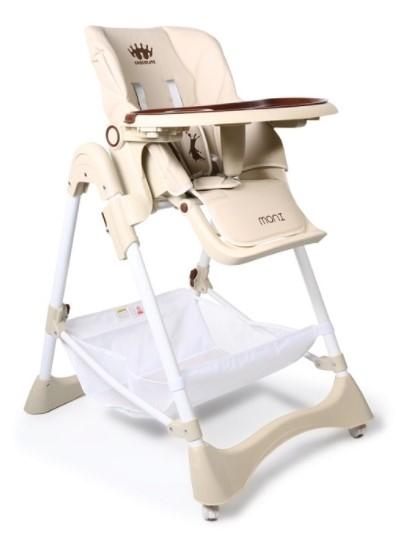 Cangaroo Dětská  jídelní židlička Chocolate - béžová