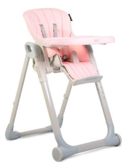 Cangaroo Dětská  jídelní židlička I Eat - růžová