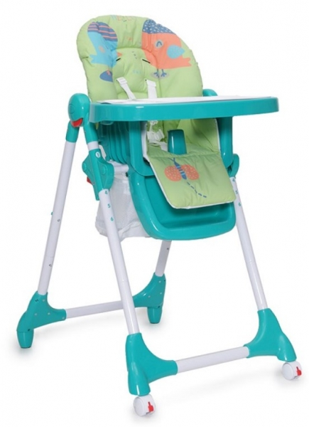 Cangaroo Dětská  jídelní židlička Kimchi - tyrkysová