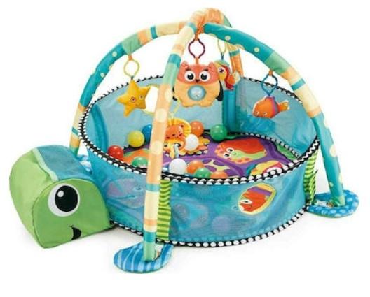 Moni Dětská hrací podložka Mořská želva, modrá