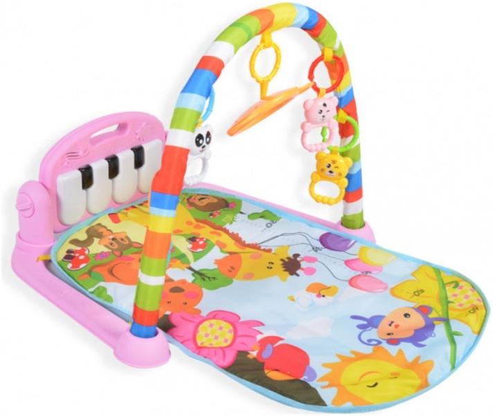 Moni Dětská hrací podložka Fitness, růžová