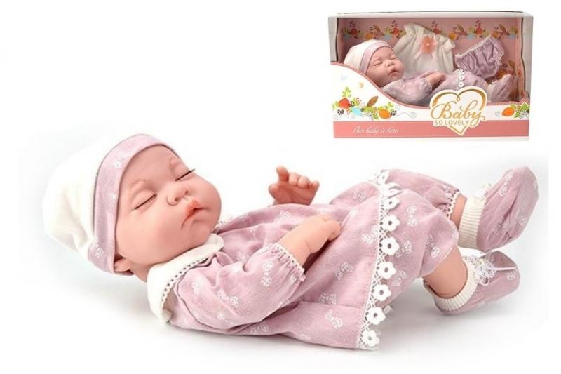 Tulimi Luxusní panenka/miminko Baby so Lovely - růžová