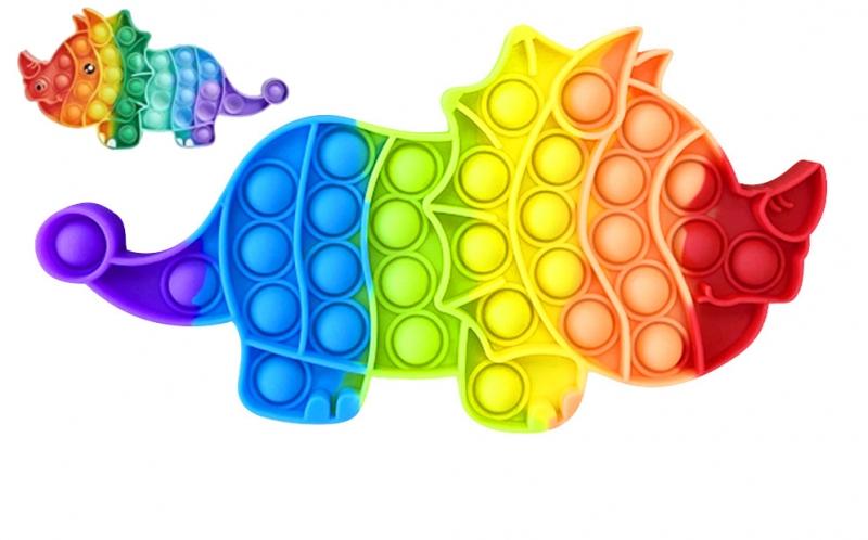 Pop It - Praskající bubliny, silikonová, antistresová spol. hra, Dino