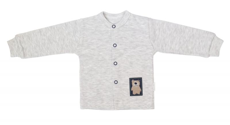 Mamatti Novorozenecká bavlněná košilka, kabátek, Hory - šedá, Velikost: 50 (0-1m)
