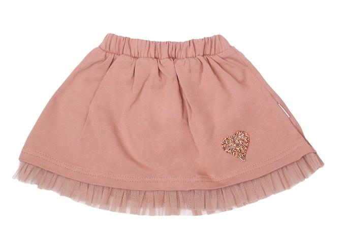 Mamatti Dětská bavlněná sukně, Magnólie - pudrová