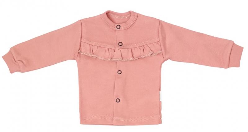 Mamatti Novorozenecká bavlněná košilka, kabátek, New minnie - pudrová, Velikost: 50 (0-1m)